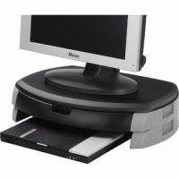 Q-Connect Monitor/Printer Stand/Drawer Black KF20081