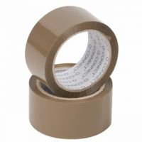 Q-Connect Polypropylene Packaging Tape 50mm x 66m Brown (Pack of 6 KF27010)
