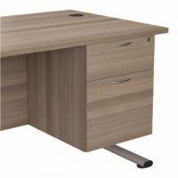 Jemini Grey Oak 2 Drawer Fixed Pedestal KF78939
