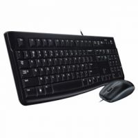 Logitech Black MK120 Wired Keyboard and Mouse Set 920-002552