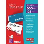 Decadry Perforated Place Cards 200gsm White (Pack of 132) DPOCB3713