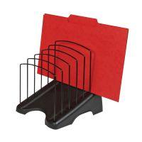 Arnos Step Black 6 File Organiser (W190 x D240 x H240mm) E110