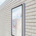Nobo Weatherproof External Glazed Case 692x752mm 1902578