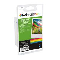 Polaroid Brother LC123C Remanufactured Inkjet Cartridge Cyan LC123C-COMP PL