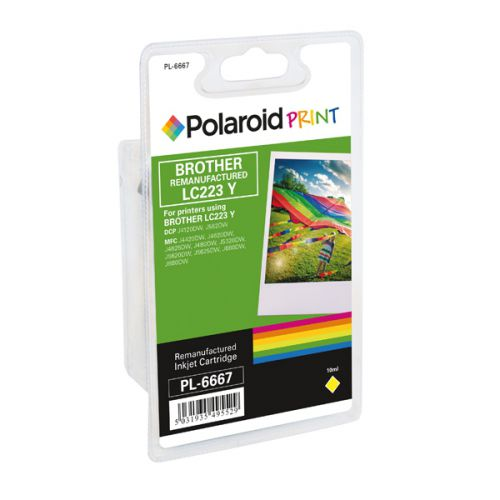 Polaroid Brother LC223Y Remanufactured Inkjet Cartridge Yellow LC223Y-COMP PL
