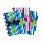 Pukka Pad Stripes Polypropylene Project Book 250 Pages A5 Blue/Pink (Pack of 3) PROBA5