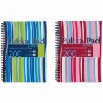 Pukka Pad Stripes Polypropylene Wirebound Jotta Notebook 200 Pages A5 Blue/Pink (Pack of 3) JP021