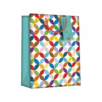 Regent Gift Bags Bright Link Geometric?Large (Pack of 6) Z730L