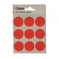 Blick Red Coloured Labels in Bags Round 29mm (Pack of 720) RS005155