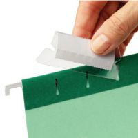 Rexel 50mm Suspension File Tabs with Labels Clear (Pack of 25) 2115596