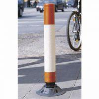 VFM Red/White High Visibility Flexible Post 1000mm 320213