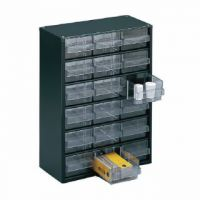 Clear 18 Drawer System Dark Grey Storage Cabinet 324117