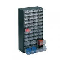 Clear 40 Drawer System Dark Grey Storage Cabinet 324171