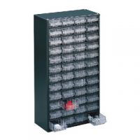 Clear 48 Drawer System Dark Grey Storage Cabinet 324196