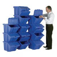 VFM Blue Heavy Duty Recycle Bin/Lid (Pack of 12) 369050