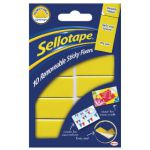 Sellotape Sticky Fixers Removable Pads 20 x 40mm (Pack of 10) 1445286
