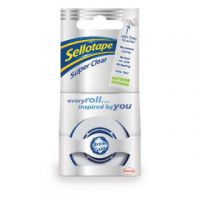 Sellotape Super Clear Tape 18mm x 25m Pack of 8 1443351