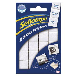 Sellotape Sticky Fixers Outdoor 20 x 20mm (Pack of 48) 1445421