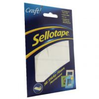 Sellotape Sticky Fixers Permanent 12 x 25mm (Pack of 56) 1445423