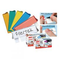 Cathedral Assorted Dry Erase Suspension File Tabs (Pack of 50) FPCLIPDRY50ASS