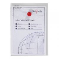 Snopake Polyfile P File Wallet Portrait A6 Clear (Pack of 5) 13293