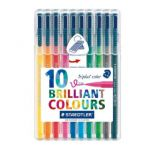 Staedtler Triplus Color Fibre Tip Pen Assorted (Pack of 10) 323SB10
