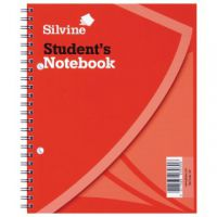 Silvine Feint Ruled Student's Notebook 120 Pages 229x178mm (Pack of 12) 139