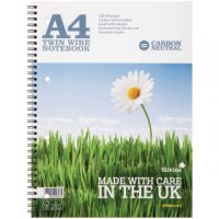 Silvine Carbon Neutral Ruled Wirebound Notebook 120 Pages A4 (Pack of 5) R302
