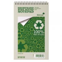 Silvine Everyday Recycled Spiral Bound Shorthand Notebook 127x203mm (Pack of 12) RE160-T