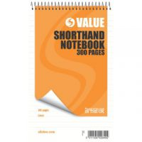 Silvine Feint Ruled Spiral Bound Shorthand Notebook 300 Pages 127x203mm (Pack of 6) 449