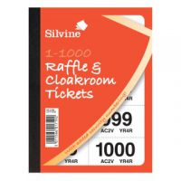 Cloakroom and Raffle Tickets 1-1000 (Pack of 6) CRT1000