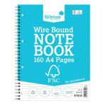 Silvine Envrionmentally Friendly Wirebound Notebook 160 Pages A4 (Pack of 5) FSCTW80