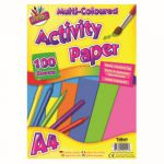Art Box Activity Paper 100 Sheet A4 Assorted (Pack of 12) TAL05044