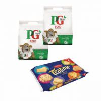 PG One Cup Pyramid Tea Bags (Pack of 800) Buy 2 Get Free Biscuits VF819644