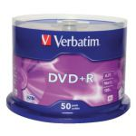 Verbatim DVD+R 16X Non-Printable Spindle (Pack of 50) 43550