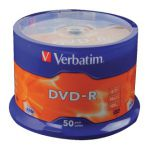 Verbatim 4.7GB 16x Speed Spindle DVD-R (Pack of 50) 43500