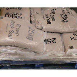 Winter Dry Brown Rock Salt 25kg (Pack of 10) 383579