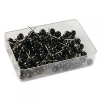 Map Pins Black (Pack of 100) 26891