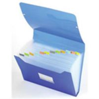 Multipart Expanding File A4 13 Compartment With Tabs Blue