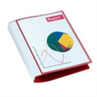 Presentation Ring Binder A4 With Front Cover Pocket And Spine Label Holder Red