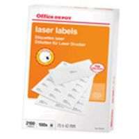 Labels Laser 99.1 x 67.7 mm 100 Sheets Rounded Corners