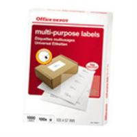 Labels Multi-Purpose 105 x 57 mm 100 Sheets Rounded Corners