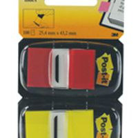 Post-it Index 1 Inch Dual Pack Red and Yellow 680-RY2
