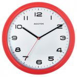 Acctim Aylesbury Wall Clock Red 92/303