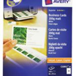 Avery Quick And Clean Laser and Inkjet Business Card 85x54mm White Pk 25 Sheets C32011-25