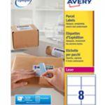 Avery BlockOut Laser Label 99.1x67.7mm 8 per Sheet White Pk 100 L7165-100 (FPC)