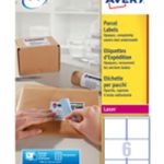 Avery Jam-Free Laser Label 99.1x93.1mm 6 per Sheet White Pk 100 L7166-100 (FPC)