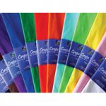 Bright Ideas Crepe Paper 500mm x 3m Assorted Pk 12 BI0568