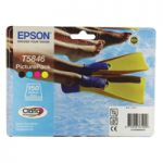 Epson Inkjet Cartridge Black/Cyan/Magenta/Yellow Plus 150 Sheets Photo Paper C13T58464010