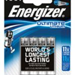 Energizer Ultimate Lithium Battery AAA DFB4 Pk 4 627326